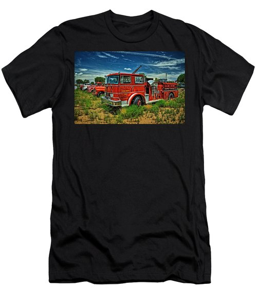 Men's T-Shirt (Slim Fit) featuring the photograph Generations Of Fire Fighting Equipment by Ken Smith
