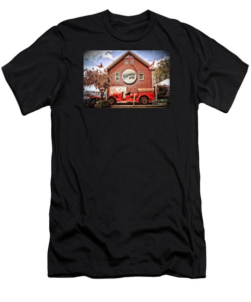 Geneva On The Lake Firehouse Men's T-Shirt (Athletic Fit)