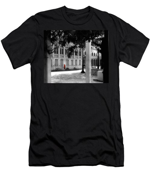 Men's T-Shirt (Athletic Fit) featuring the photograph Gentle Warrior On Strand Street by EDi by Darlene