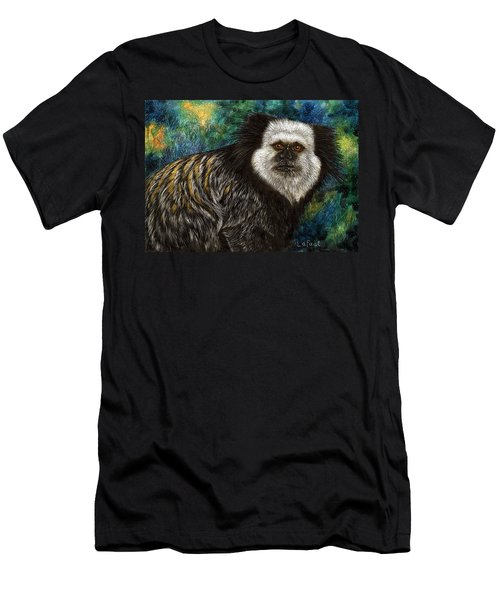 Men's T-Shirt (Slim Fit) featuring the drawing Geoffrey's Marmoset by Sandra LaFaut