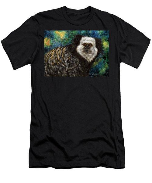 Geoffrey's Marmoset Men's T-Shirt (Slim Fit) by Sandra LaFaut