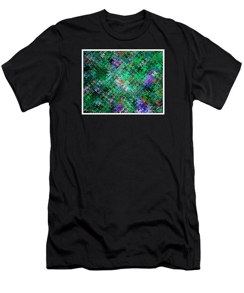 Geometric Abstract Men's T-Shirt (Slim Fit) by Mariarosa Rockefeller