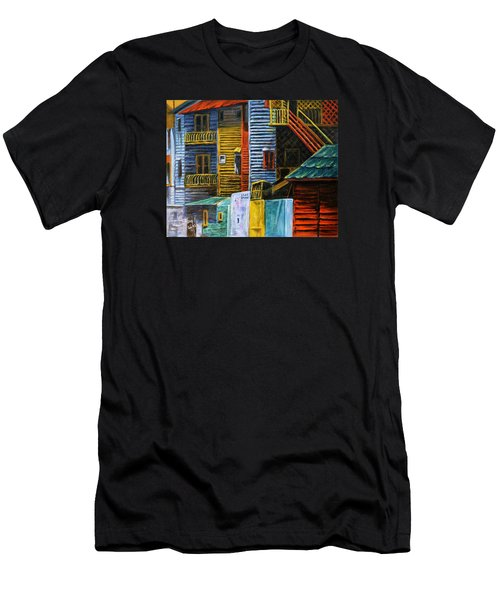 Geometric Colours I Men's T-Shirt (Slim Fit) by Xueling Zou