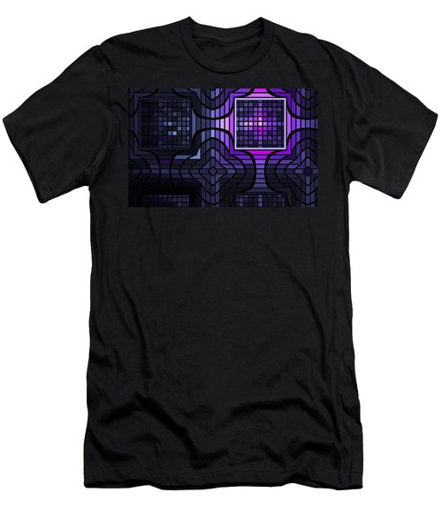 Men's T-Shirt (Slim Fit) featuring the digital art Geometric Stained Glass by GJ Blackman