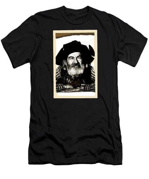 George Hayes Portrait #1 Card Men's T-Shirt (Slim Fit) by David Lee Guss