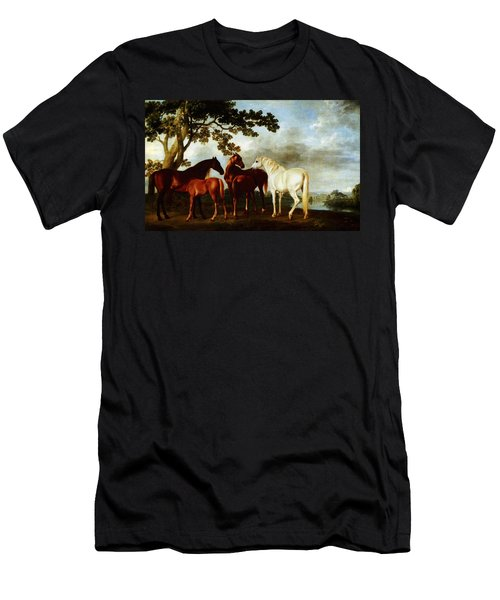 Horses Men's T-Shirt (Slim Fit) by George Stubbs