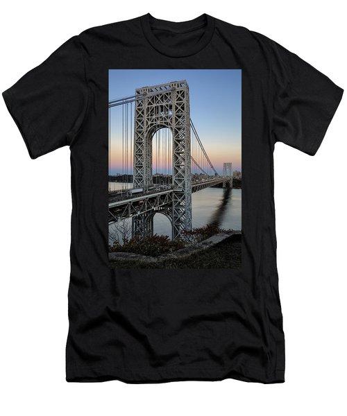George Washington Bridge Aproaching Dusk Men's T-Shirt (Athletic Fit)