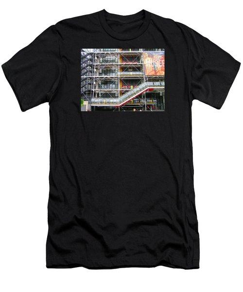 Georges Pompidou Centre Men's T-Shirt (Slim Fit) by Oleg Zavarzin
