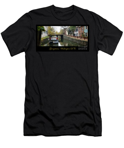Georgetown Canal Poster Men's T-Shirt (Athletic Fit)