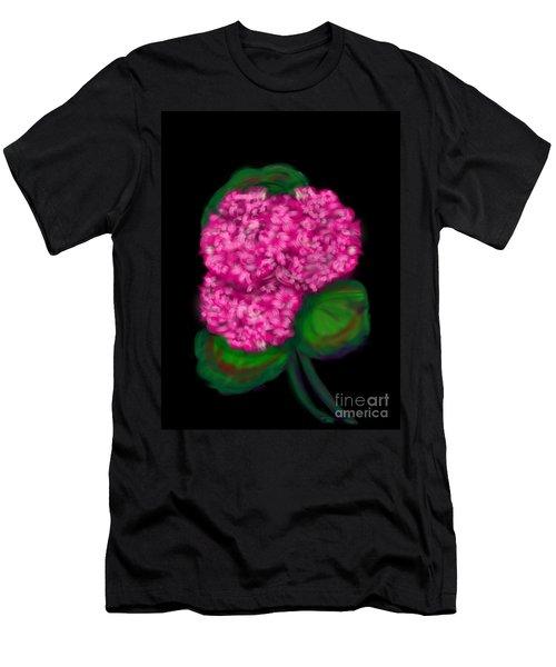 Men's T-Shirt (Slim Fit) featuring the digital art Geranium by Christine Fournier