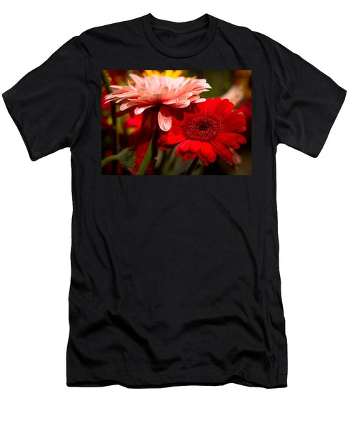 Men's T-Shirt (Slim Fit) featuring the photograph Gerbera Daisies by Patrice Zinck