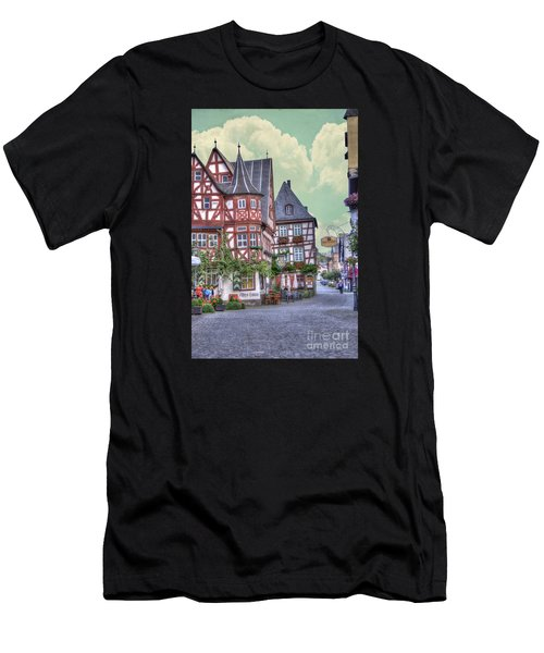 German Village Along Rhine River Men's T-Shirt (Athletic Fit)
