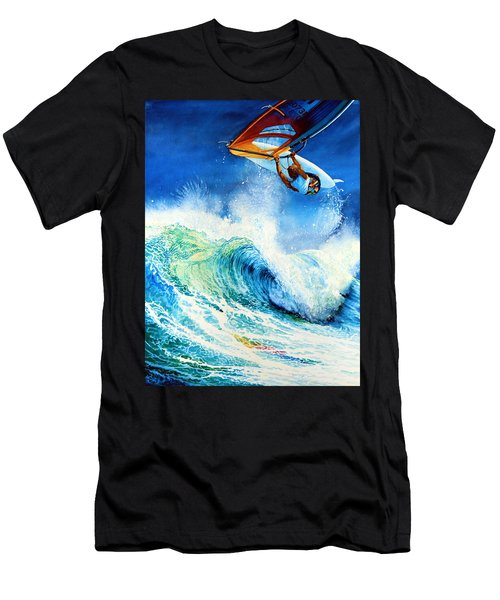 Men's T-Shirt (Athletic Fit) featuring the painting Getting Air by Hanne Lore Koehler
