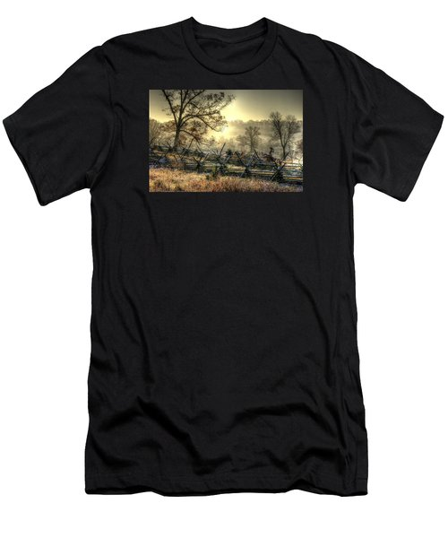 Gettysburg At Rest - Sunrise Over Northern Portion Of Little Round Top Men's T-Shirt (Athletic Fit)