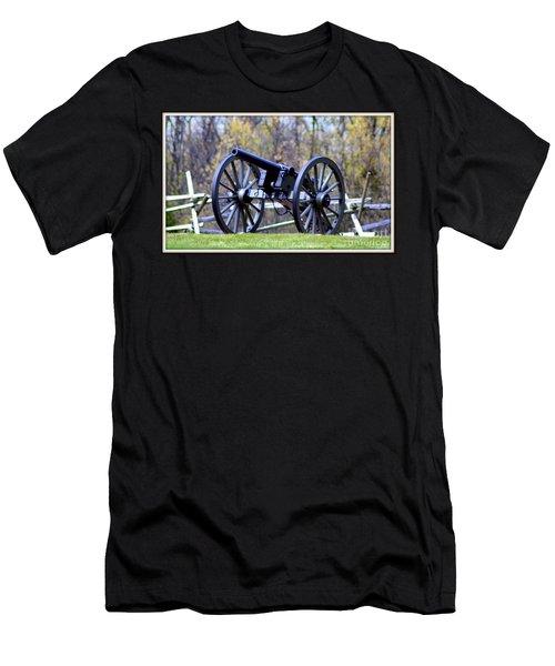 Gettysburg Battlefield Cannon Men's T-Shirt (Slim Fit) by Patti Whitten