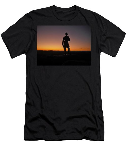 Men's T-Shirt (Slim Fit) featuring the photograph Gettysburg Sunset by Ed Sweeney