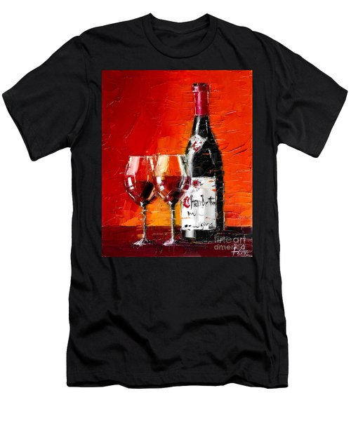 Still Life With Wine Bottle And Glass IIi Men's T-Shirt (Athletic Fit)