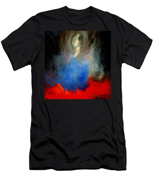 Men's T-Shirt (Slim Fit) featuring the painting Ghost by Lisa Kaiser