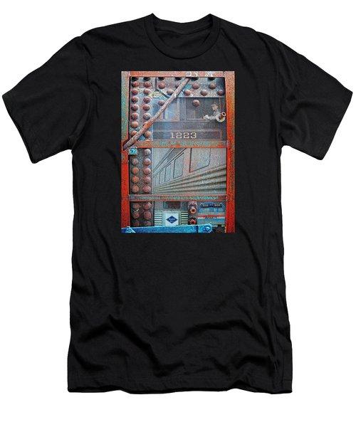 Ghosts Of The Railroad Men's T-Shirt (Slim Fit) by Joseph J Stevens
