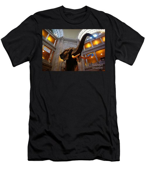 Men's T-Shirt (Slim Fit) featuring the photograph Giant Elephant  by John S