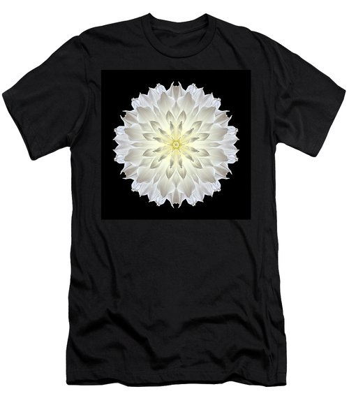 Giant White Dahlia Flower Mandala Men's T-Shirt (Athletic Fit)