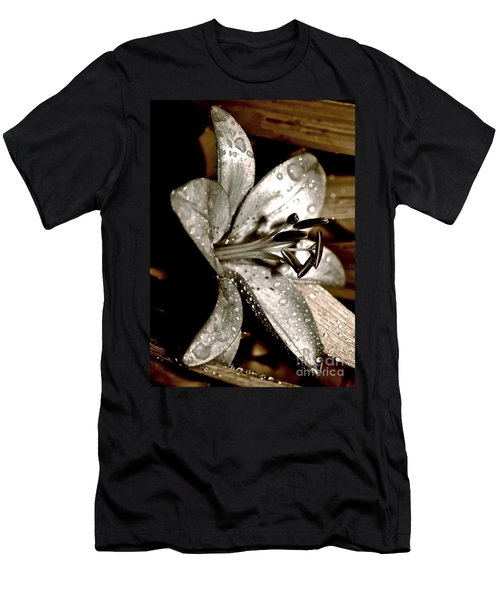 Gilded Lilies 3 Men's T-Shirt (Slim Fit) by Linda Bianic