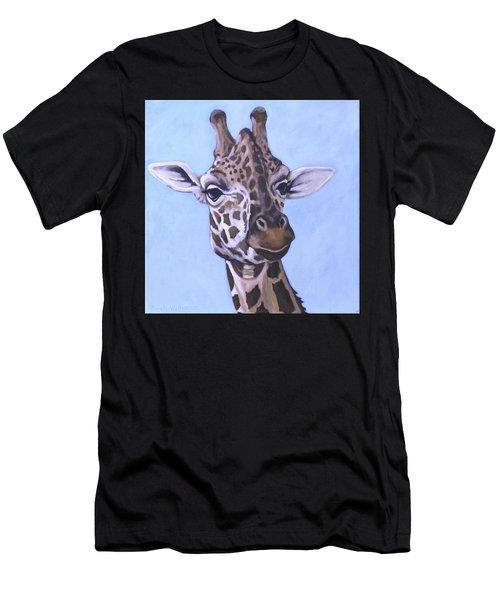 Giraffe Eye To Eye Men's T-Shirt (Athletic Fit)