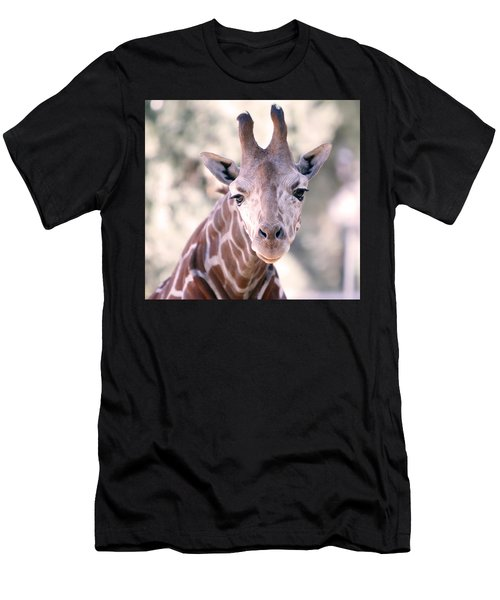 Men's T-Shirt (Slim Fit) featuring the pyrography Giraffe Staring  by Shoal Hollingsworth
