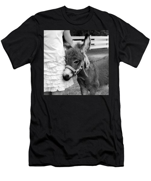 Girl And Baby Donkey Men's T-Shirt (Athletic Fit)