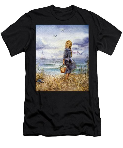 Girl And The Ocean Men's T-Shirt (Athletic Fit)