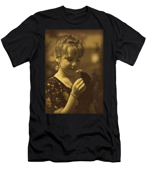 Girl With Flower Men's T-Shirt (Athletic Fit)