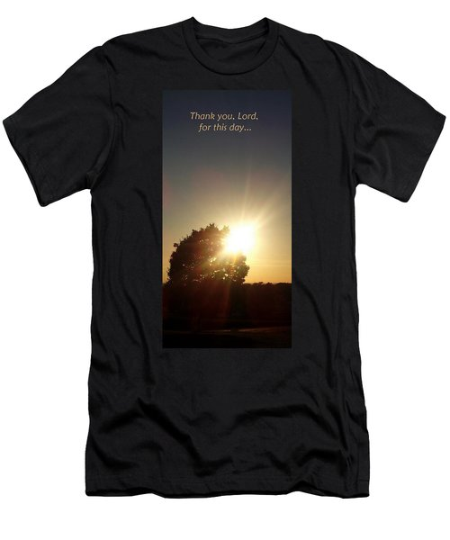 Give Thanks Men's T-Shirt (Athletic Fit)