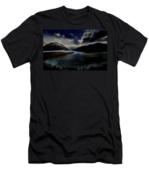 Men's T-Shirt (Slim Fit) featuring the digital art Glacial Light 1 by William Horden