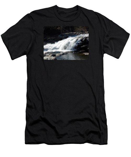 Glacial Potholes Falls Men's T-Shirt (Slim Fit) by Catherine Gagne