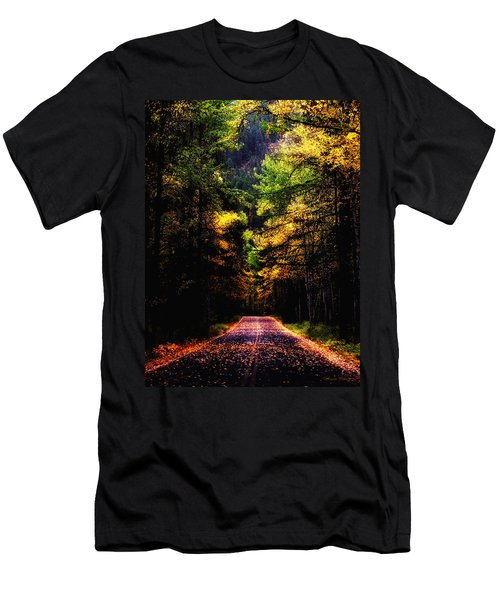 Glacier Fall Road Men's T-Shirt (Athletic Fit)