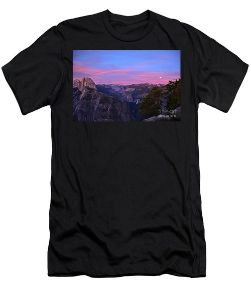 Glacier Point With Sunset And Moonrise Men's T-Shirt (Athletic Fit)
