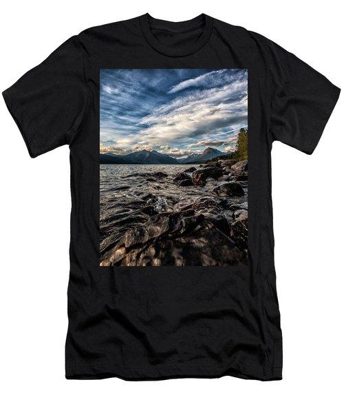 Glacier Whispers Men's T-Shirt (Slim Fit) by Aaron Aldrich