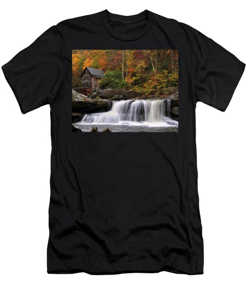 Glade Creek Grist Mill - Photo Men's T-Shirt (Slim Fit) by Chris Flees