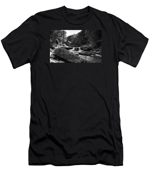 Glade Creek Waterfall Men's T-Shirt (Slim Fit) by Shelly Gunderson