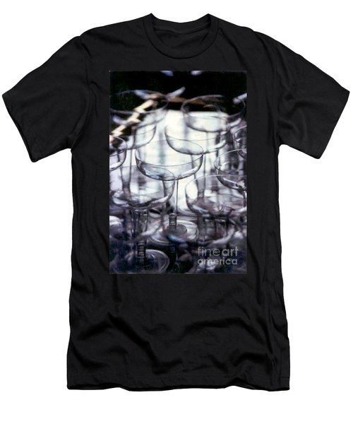 Men's T-Shirt (Slim Fit) featuring the photograph New Orleans Toast To The New Year 2017 Abstract by Michael Hoard