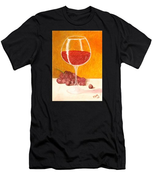 Glass Of Grapes Men's T-Shirt (Athletic Fit)