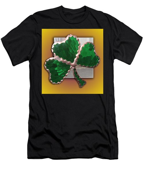 Glass Shamrock Men's T-Shirt (Athletic Fit)