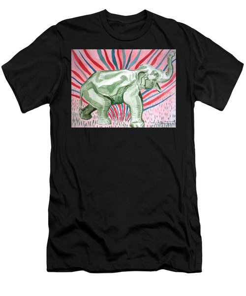 Gleeful Elephant Men's T-Shirt (Athletic Fit)