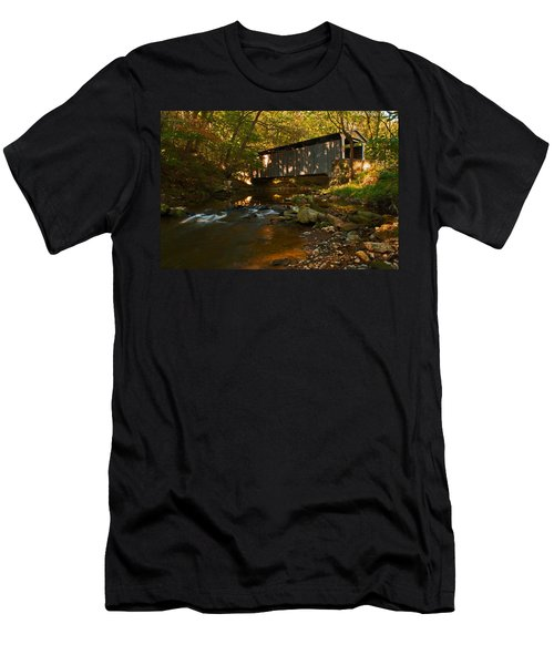 Glen Hope Covered Bridge Men's T-Shirt (Athletic Fit)