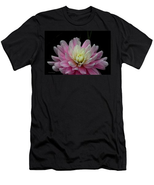 Glistening Dahlia Radiance Men's T-Shirt (Athletic Fit)