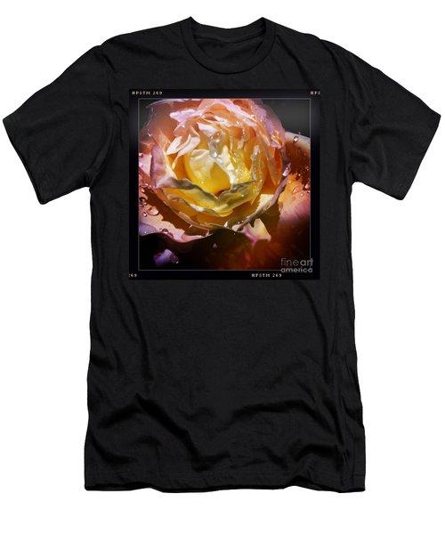 Glistening Rose Men's T-Shirt (Athletic Fit)