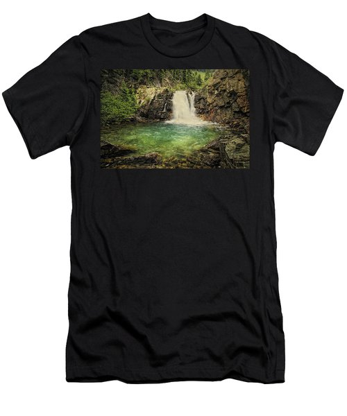 Men's T-Shirt (Slim Fit) featuring the photograph Glory Pool by Priscilla Burgers
