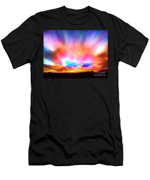 Glory Sunset Men's T-Shirt (Slim Fit) by Patricia L Davidson