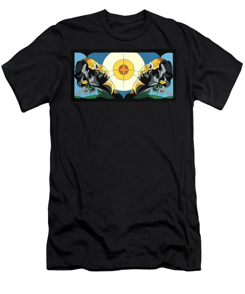 Glow Of Beauty - Painting With Hidden Pictures Men's T-Shirt (Athletic Fit)