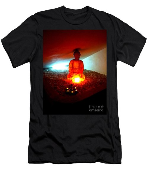 Glowing Buddha Men's T-Shirt (Athletic Fit)